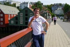 David Nikel in Trondheim, Norway